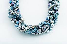 blue pearl necklace images Aly blue pearl necklace megankyle jpg