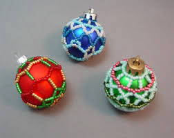 caterwalls beaded christmas ornament cover pattern
