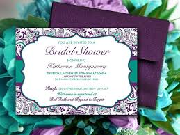 Shabby Chic Wedding Shower by Bridal Shower Invitation Template Teal Green Eggplant Plum