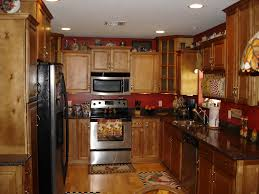 kitchen exciting small kitchen decoration using red paint for
