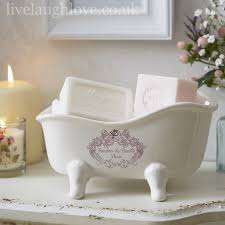 country vintage shabby chic bathroom accessories live laugh love