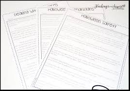 Reading Comprehension Worksheets 4th Grade Halloween Activities And Ideas For Upper Elementary Teaching To
