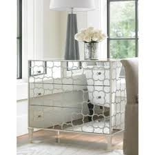 Mirrored Night Stands Wood And Mirrored Furniture Image With Charming Wood Nightstand