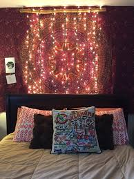 how to put christmas lights on your wall bedroom bohemian wall tapestry and diy christmas lights beds