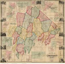 Map Maine Lincoln County Maine 1857 Maps