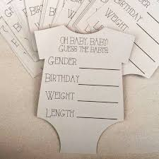 baby shower guessing guess the baby stats baby prediction cards prediction cards