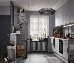 cuisine effet beton cuisine moderne effet beton gris equipée modèle delinia berlin