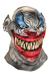 Scary Clown Halloween Costumes Men Chopper Scary Killer Clown Latex Costume Mask Ebay