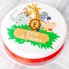 safari cake toppers cake toppers pets animals personalised jungle safari cake