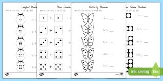doubles to 10 activity sheets maths numeracy new zealand