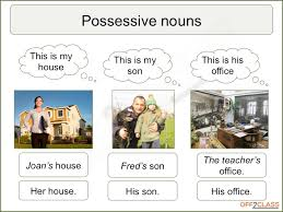 how to teach possessive adjectives and nouns off2class