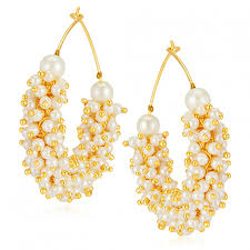 gold earrings online shop online sukkhi stunning gold plated earrings 502149