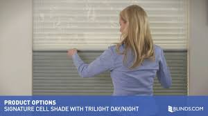 blinds com signature cell shade with trilight day night youtube