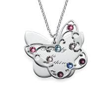 engraved necklaces for engraved butterfly necklace for with birthstones mynamenecklace
