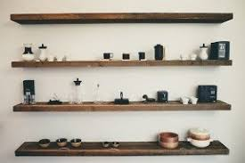 Wooden Shelves Pics by Natural Wood Floating Shelves Foter