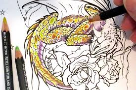 colouring tutorial how to colour dragon scales with coloured