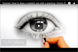 how to draw a eye with a teardrop graphite