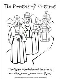 The Promises Of Christmas Coloring Page Wise Men Downloadable Wise Worship Coloring Page