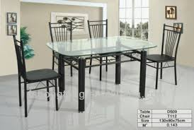 steel dining table set glass metal dining table steel frame leg and glass top table beauty
