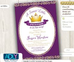 pink and gold baby shower invitations purple princess baby shower invitation for girl pink gold golden