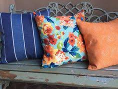 Outdoor Pillow Slipcovers Outdoor Pillow Slipcovers In Indigo Blue And By Mypillowshoppe