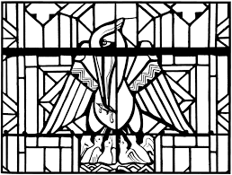 free coloring coloring stained glass pelican church