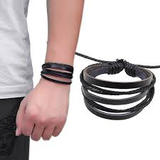 multi leather bracelet images Cc170 cool multi layer mens bracelet homme rope leather bracelet jpg