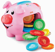 amazon com fisher price laugh u0026 learn learning piggy bank toys
