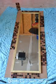diy tile mirror whats ur home story