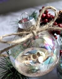 ornaments could probably diy with sand and shells from