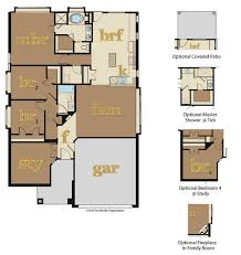 homes floor plans new homes for sale hutto 78634 ranch floor plans
