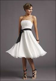 casual bridesmaid dresses line strapless white casual wedding