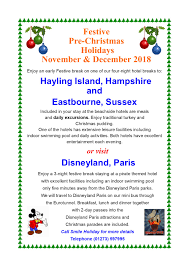 Hols by Pre Christmas Festive Breaks With Smile Holidays