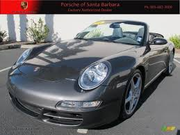grey porsche 911 2006 porsche 911 carrera s cabriolet in slate grey metallic