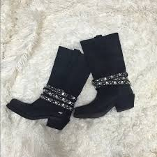 womens boots rocket rocket rhinestone motorcycle boots from stefani s closet