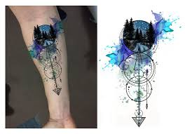 best 25 geometric watercolor tattoo ideas on pinterest galaxy
