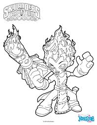skylanders trap team coloring pages wildfire character