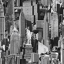 muriva 102503 12 novelties new york wallpaper rolls black and