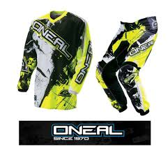 motocross helmets australia 2016 oneal youth shocker hi viz yellow mx jersey pant 2 pc combo