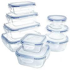 amazon com glasslock 18 piece oven safe assortment set blue
