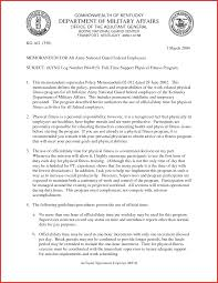 awesome army memorandum template excuse letter