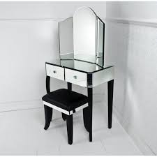 Small Vanity Table Mirrored Makeup Storage Is A Stylish Way To Unclutter The Vanity