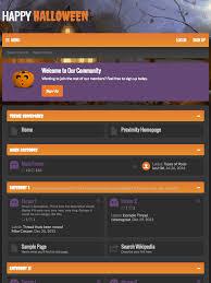 halloween purple and orange background ui x halloween xenforo theme u2014 themehouse