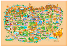 Los Angeles Map Poster by Spots Illustrated Nat Reed U0027s Modern Map Of Palm Springs L A At