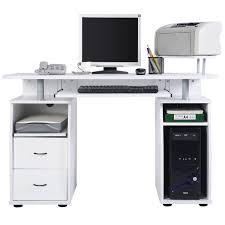 Computer Im Schreibtisch Costway Computertisch Schreibtisch Bürotisch Arbeitstisch Pc Tisch