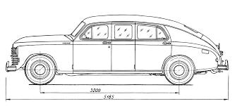 vintage cars drawings car blueprints gaz m20 pobeda blueprints vector drawings