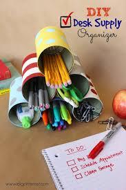 Back To School Desk Organization Diy Tin Can Desk Supply Organizer I Dig Pinterest