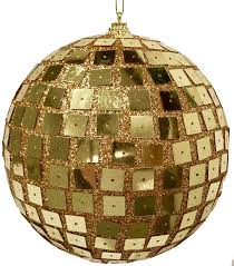 6in gold disco ornaments set of 2 paul michael company