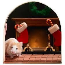 stickers trompe oeil mural sticker trompe l u0027oeil trou de souris prêt pour noël u2013 stickers