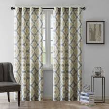 Yellow And Grey Curtain Panels Buy Yellow Cotton Curtain Panels From Bed Bath Beyond
